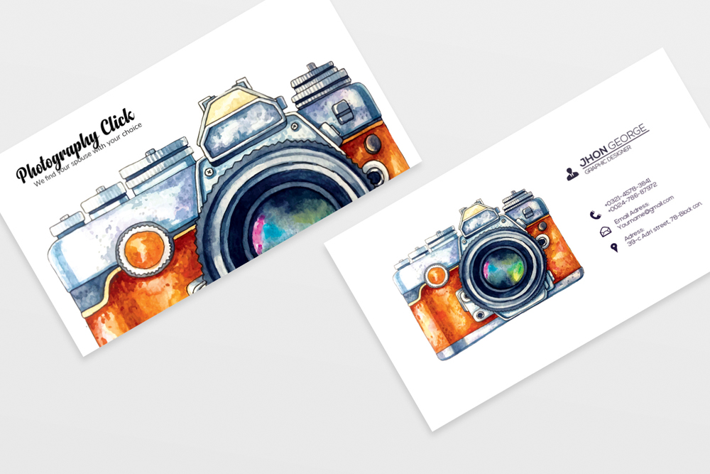 Photography Business Cards example image 3