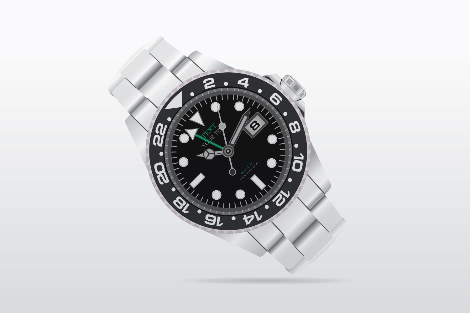 Wrist Watch vector illustration example image 2