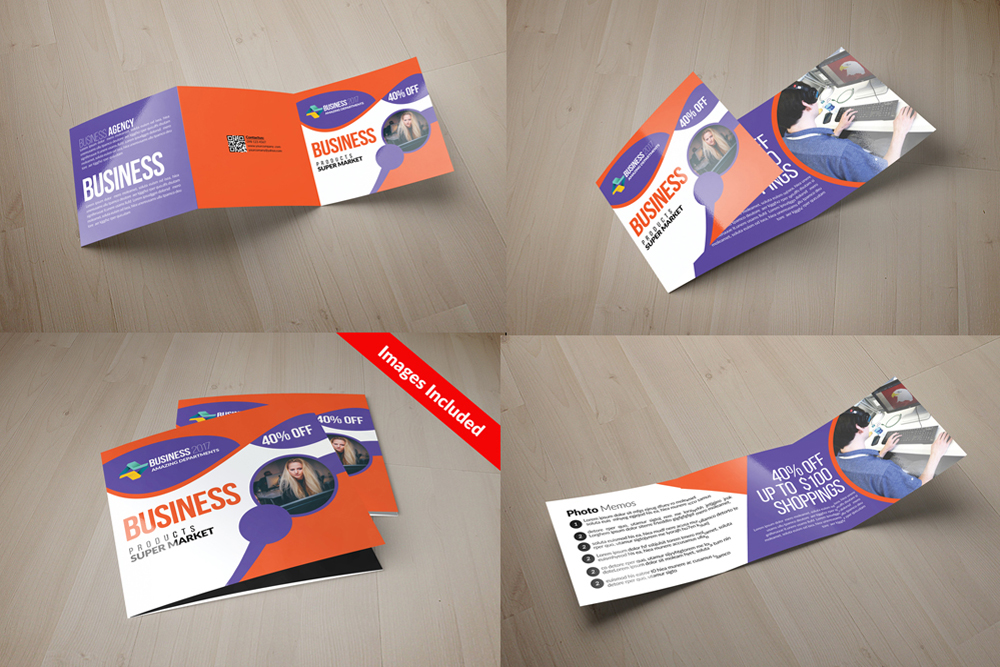 25 Square Trifold Business Brochures Bundle example image 8