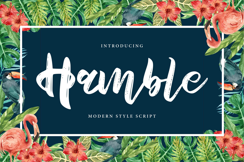 Hamble   Modern Style Script Font example image 1
