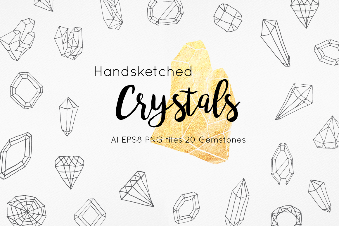 Handsketched Gemstones and Crystals example image 1