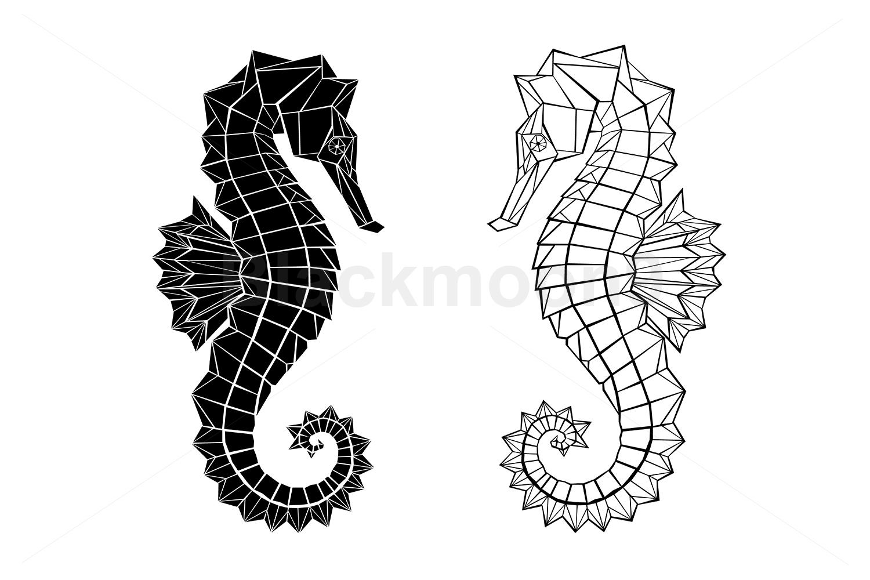 Polygonal Seahorse example image 1