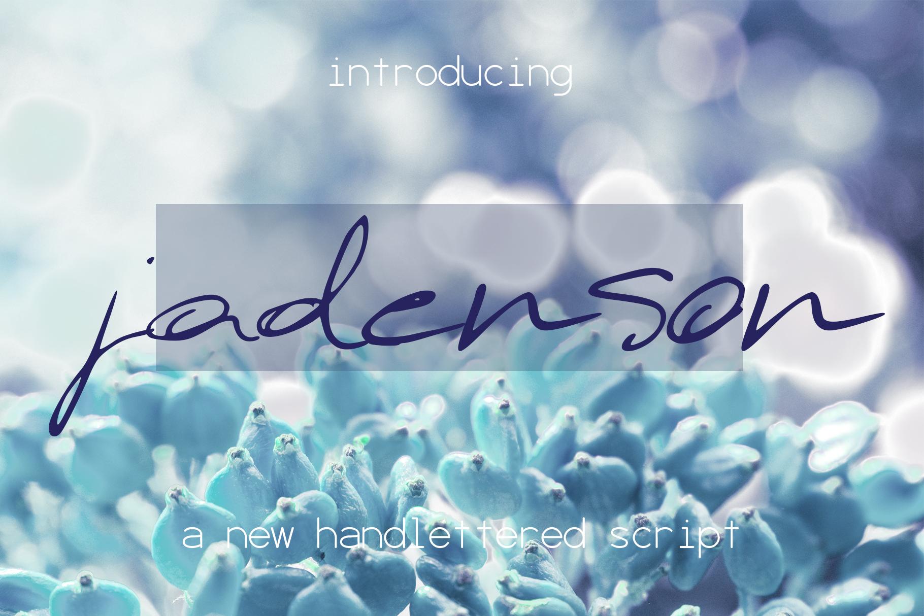 Jadenson Font example image 1