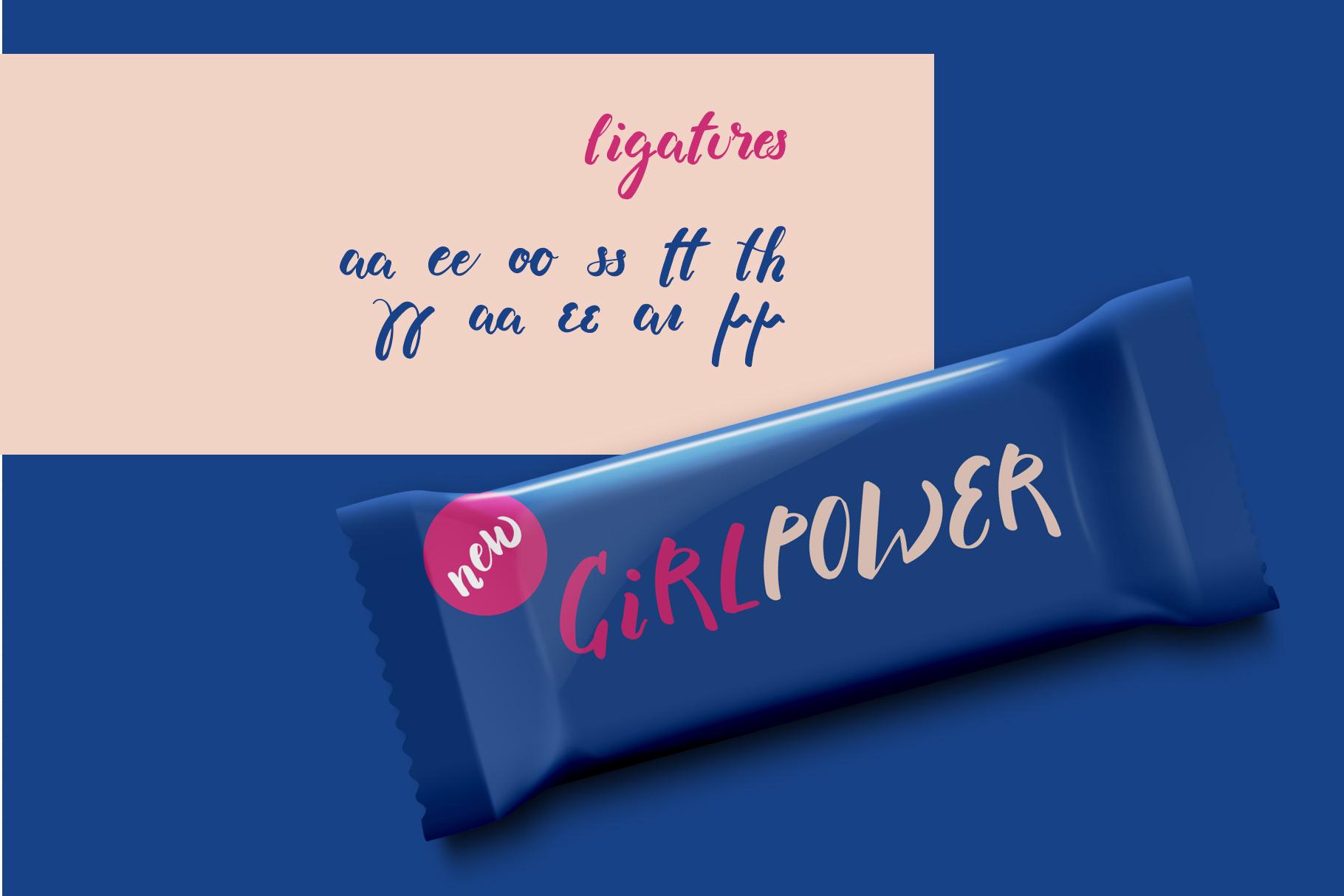 Supergal Casual Brush font example image 4
