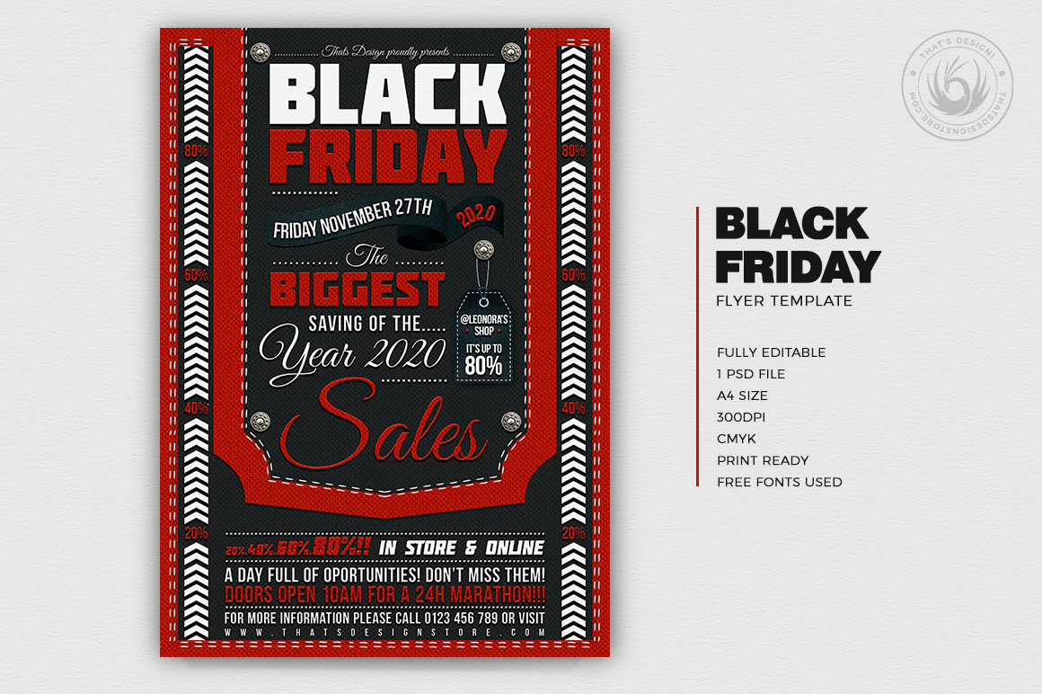 Black Friday Flyer Template example image 2