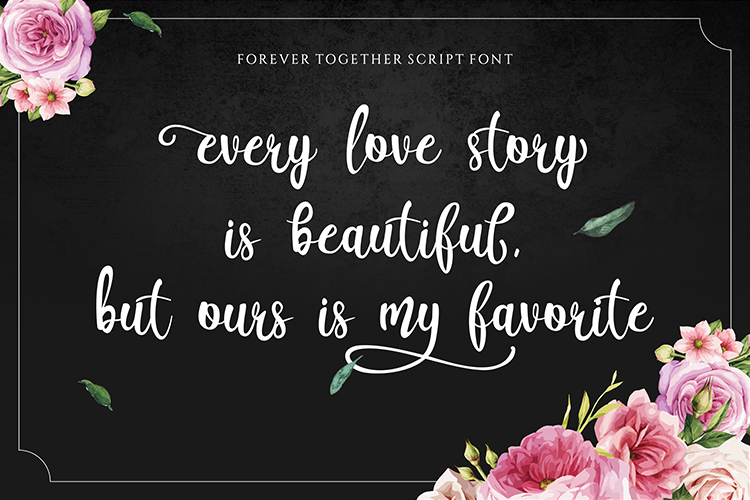 Forever Together - Romantic Font Duo example image 2