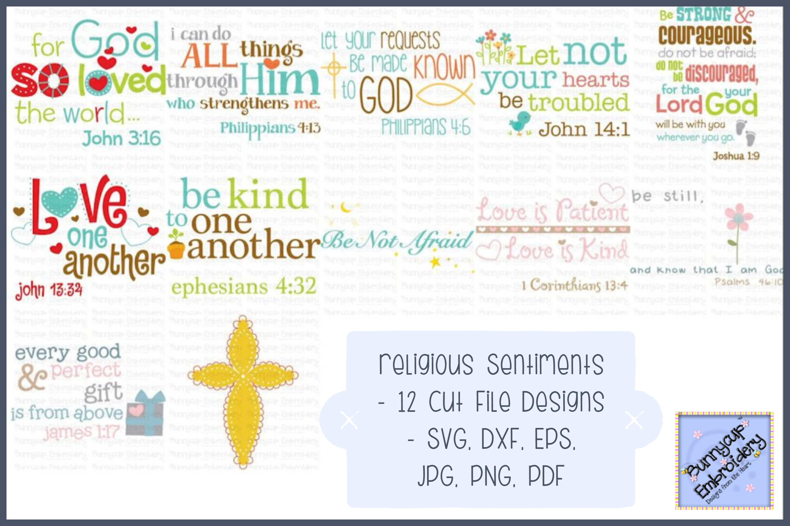 Religious Sentiments - SVG, Cut Files, Clipart, Printables example image 1