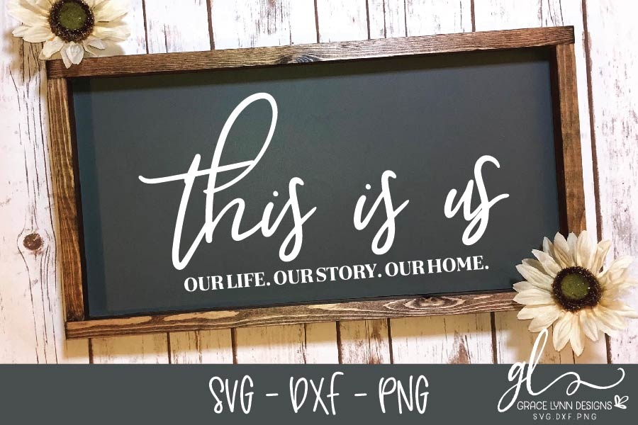 This Is Us - Digital Cut File - SVG, DXF & PNG example image 1