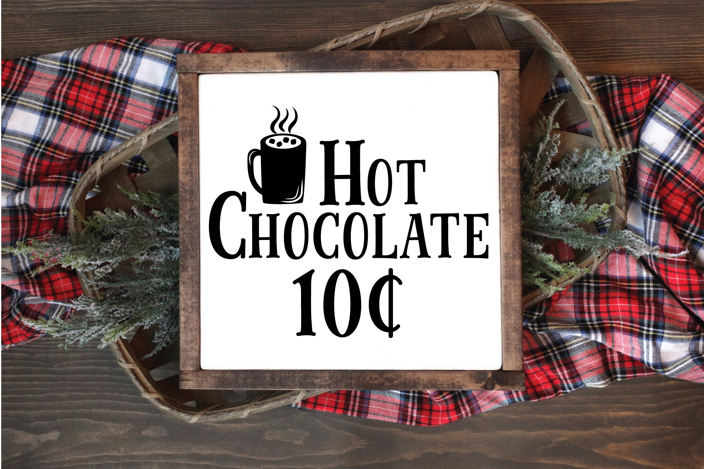 Christmas SVG Cut File - Hot Chocolate SVG DXF PNG EPS JPG example image 2