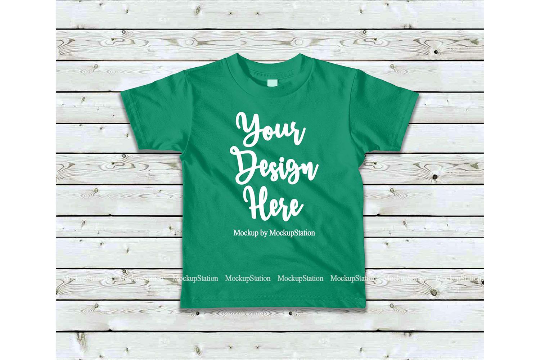 Kids Tshirt Mockup Bundle, Basic Toddler Shirt Mock Up Set example image 4