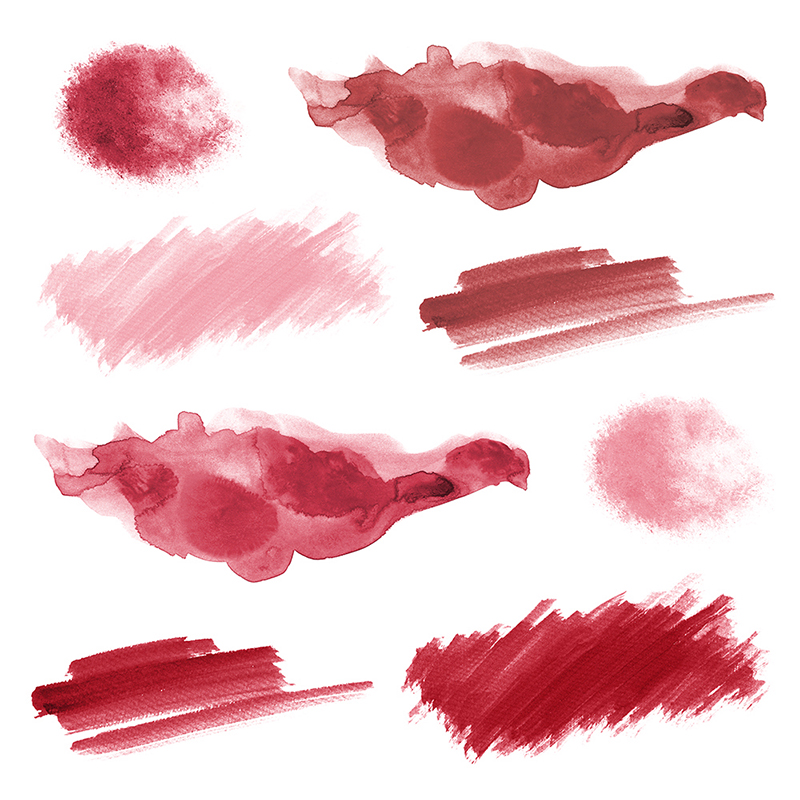 16 Red Watercolor Design Elements example image 3
