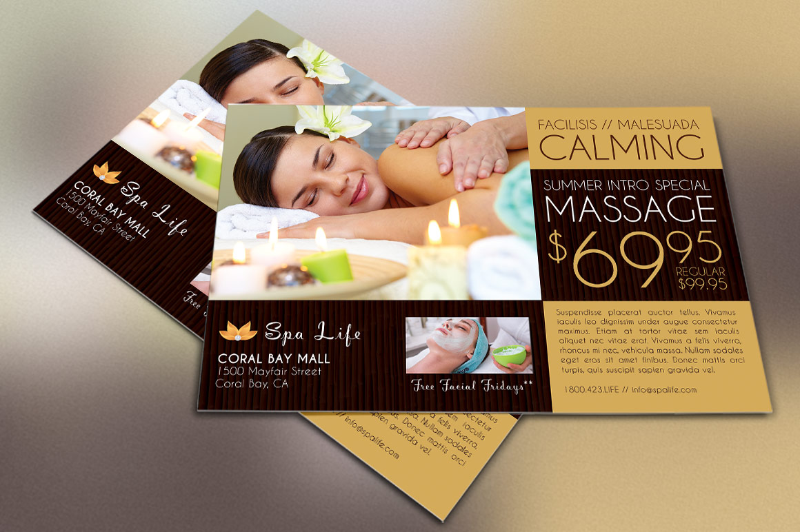 Spa Massage Flyer Template example image 3