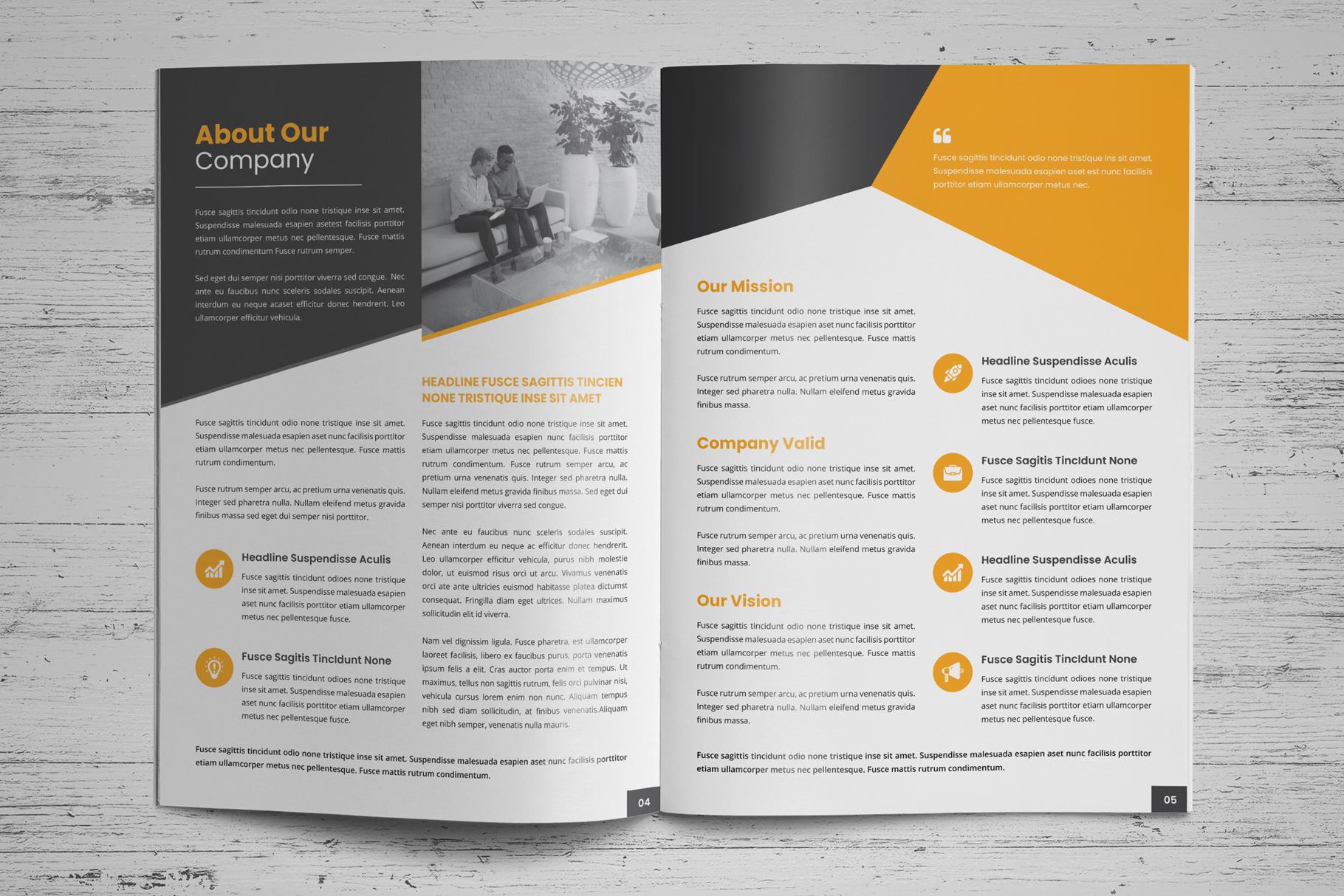 Company Profile Brochure v8 example image 3