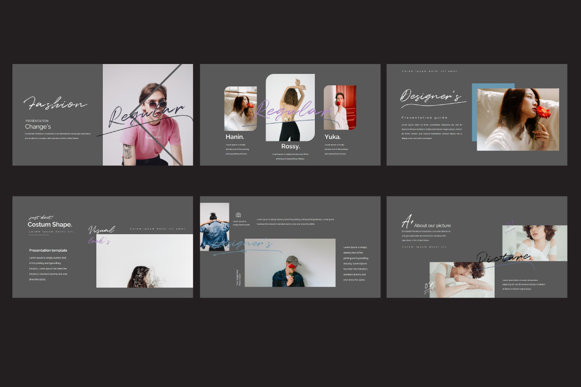Change's - Fashion Google Slides Dark example image 5
