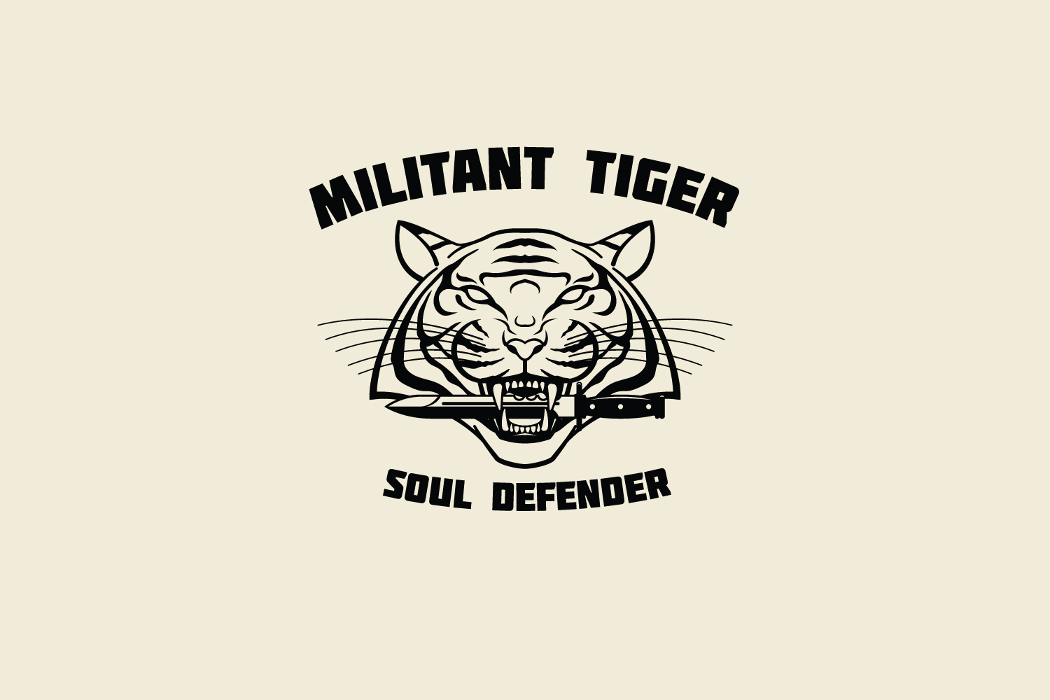 Militant Tiger Logo Template example image 3