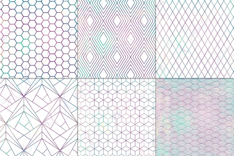 Mermaid Geometric Pattern Overlay Clipart example image 2