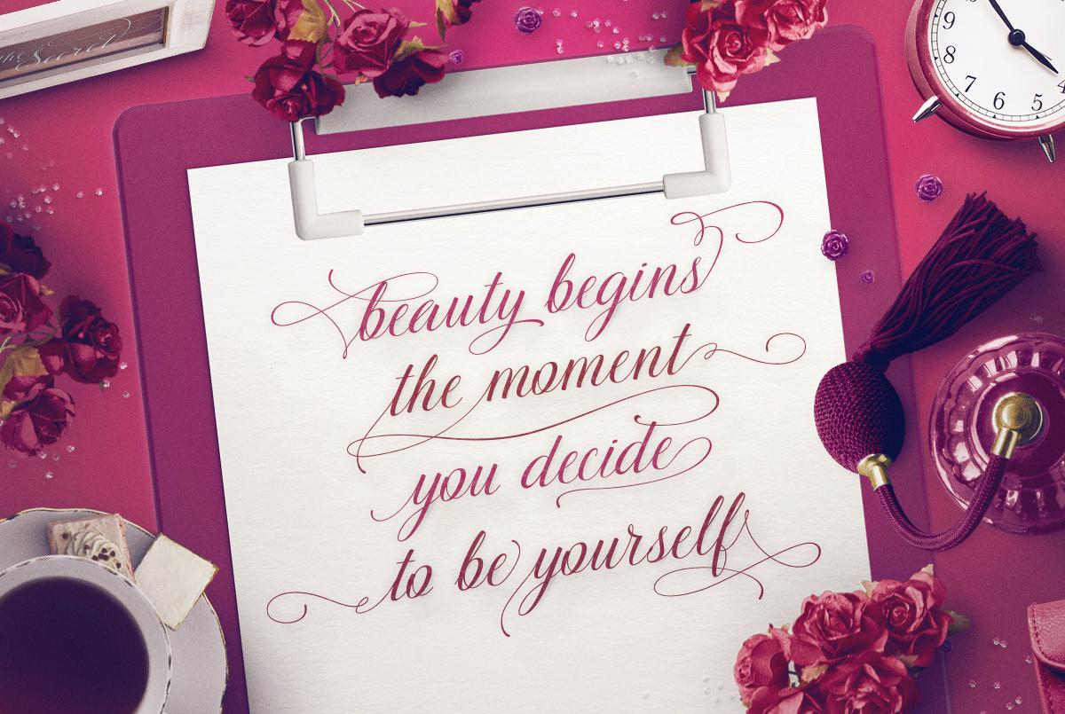 TheSecret Luxury Calligraphy Script example image 2