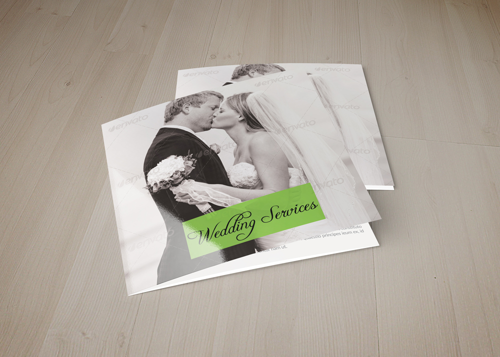 Wedding Planner Square Trifold Brochure example image 1