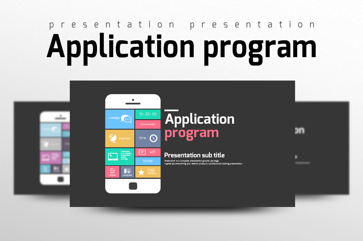 Application Presentation example image 1