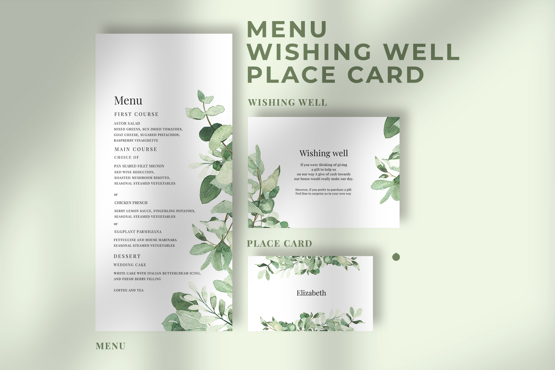 Eucalyptus Wedding Invitation Suite example image 3