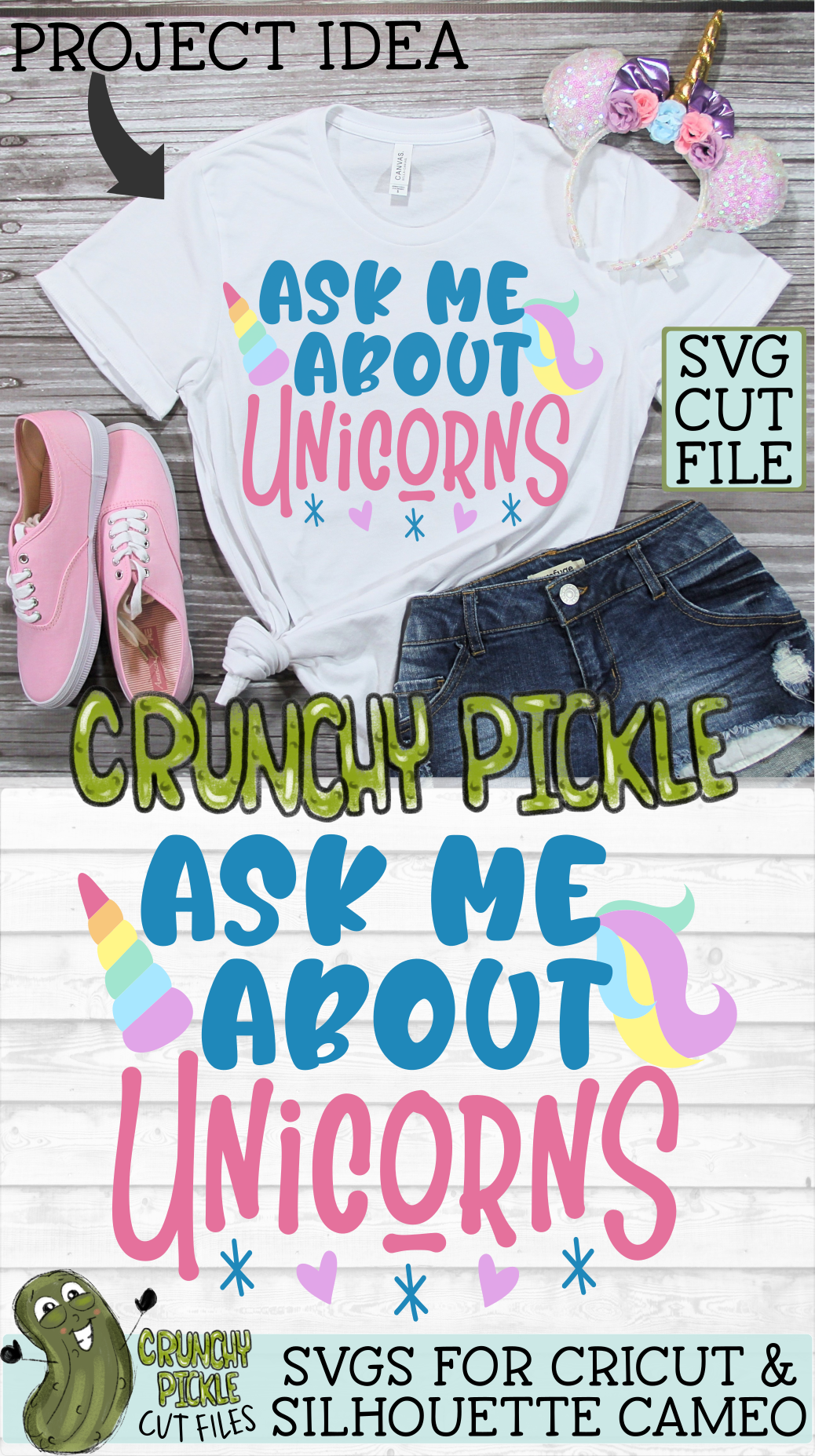 Ask Me About Unicorns SVG example image 3