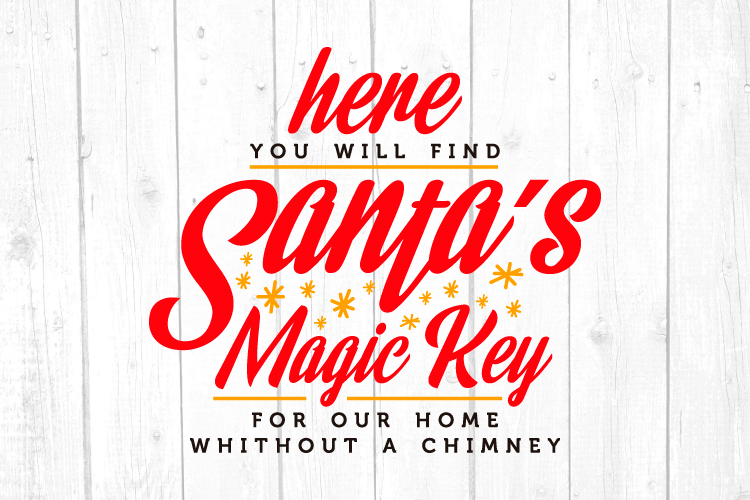 Santas Magic Key Svg, Christmas, Christmas Svg example image 1