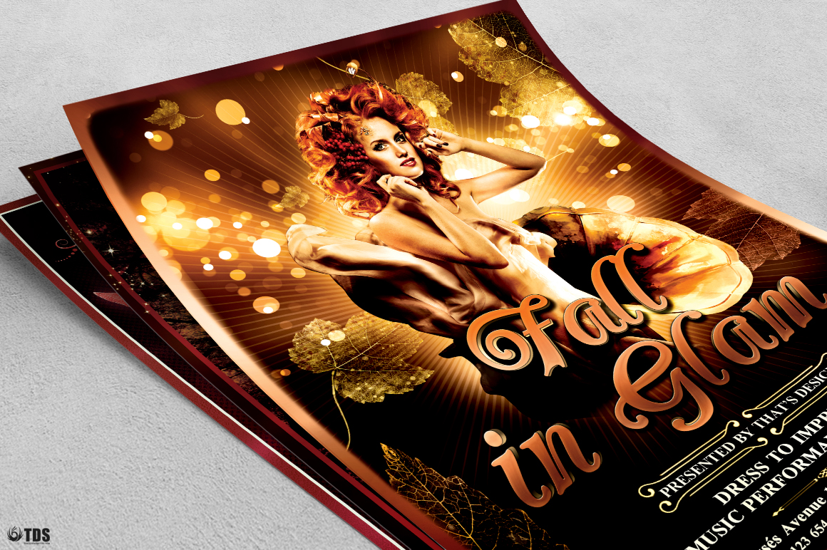 Fall in Glam Flyer Bundle V1 example image 6