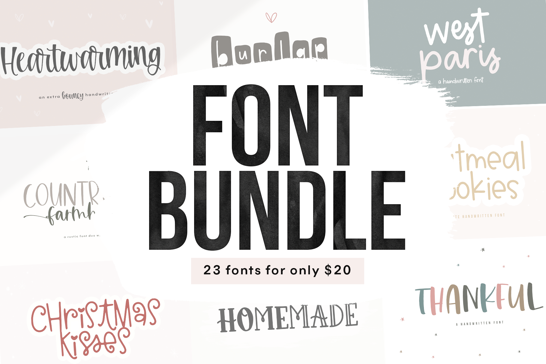 Font Bundle - Handwritten Fonts for Crafters! example image 1
