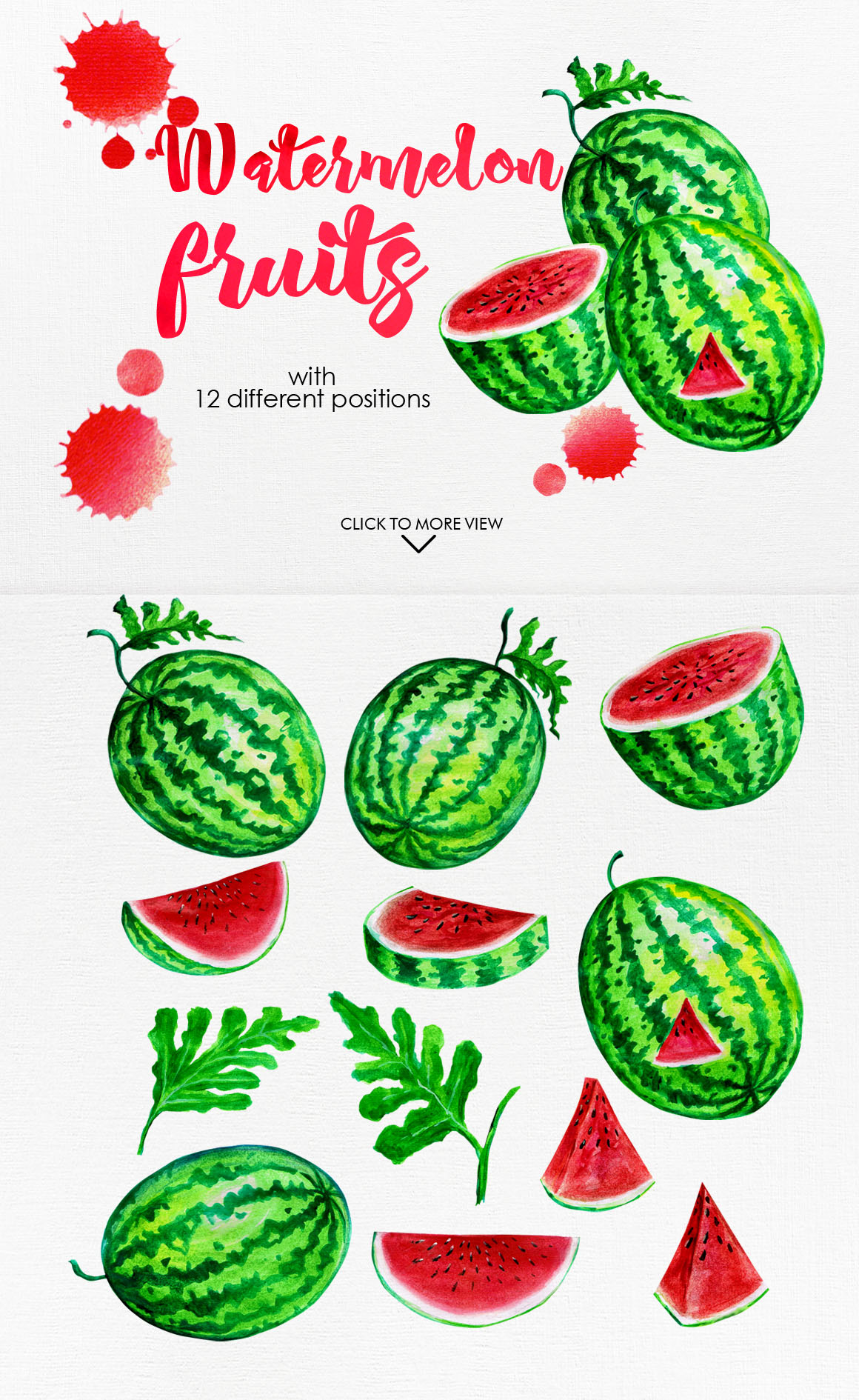 Watercolor Fruits Vol. 3 example image 2