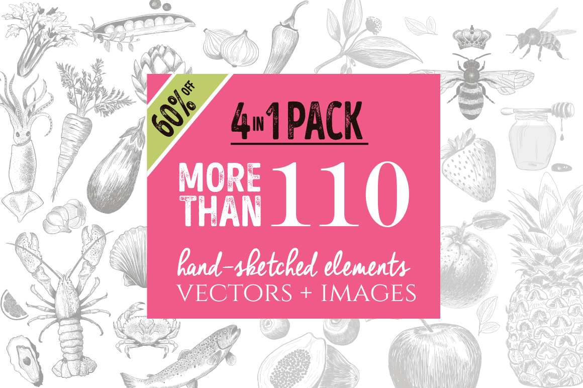 4 IN 1 ORGANIC LOGO ELEMENTS 60% OFF example image 1