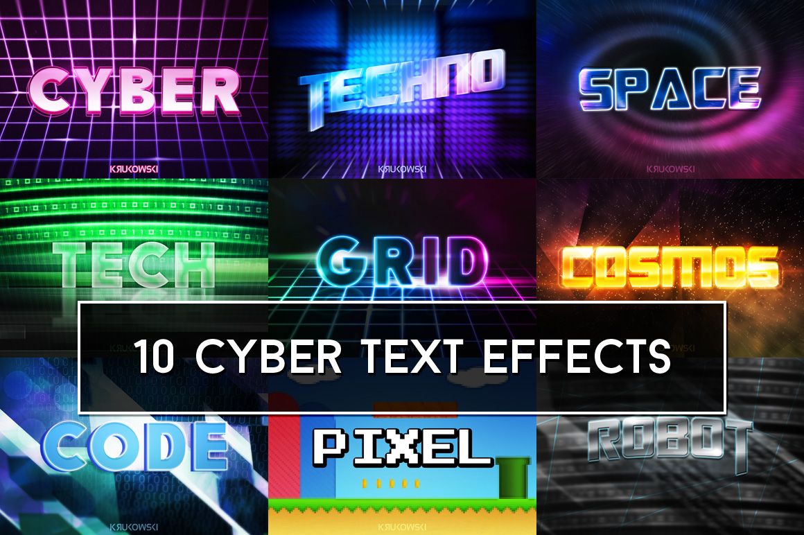 Cyber Text Effects Mockup example image 1