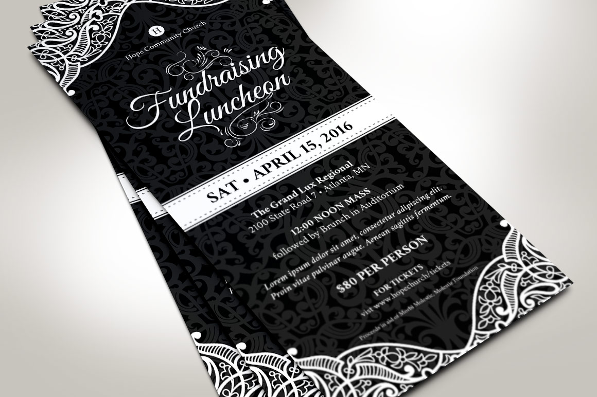 Black White Luncheon Flyer Template example image 4