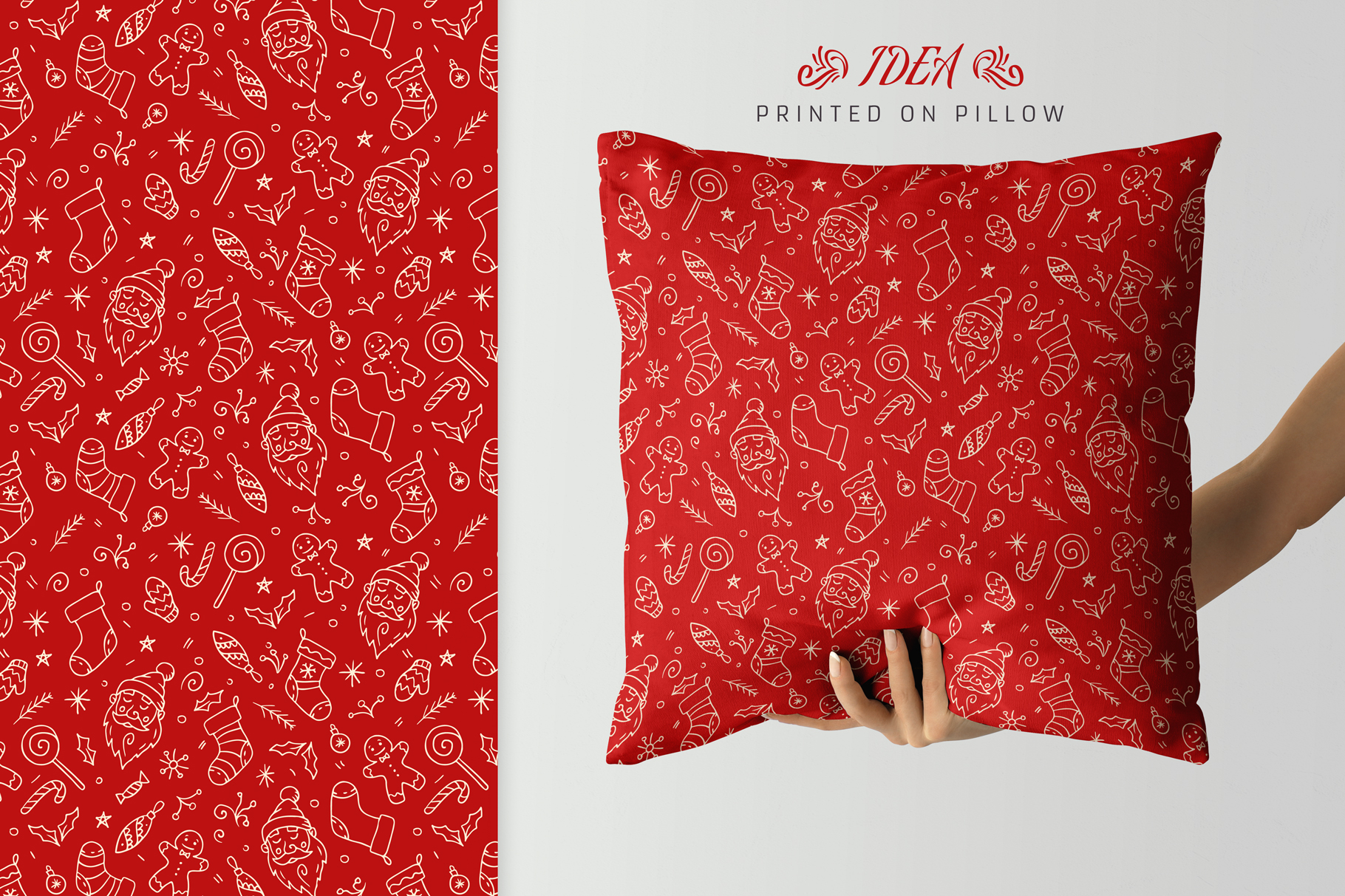 100 Seamless Patterns Vol.4 Christmas example image 14