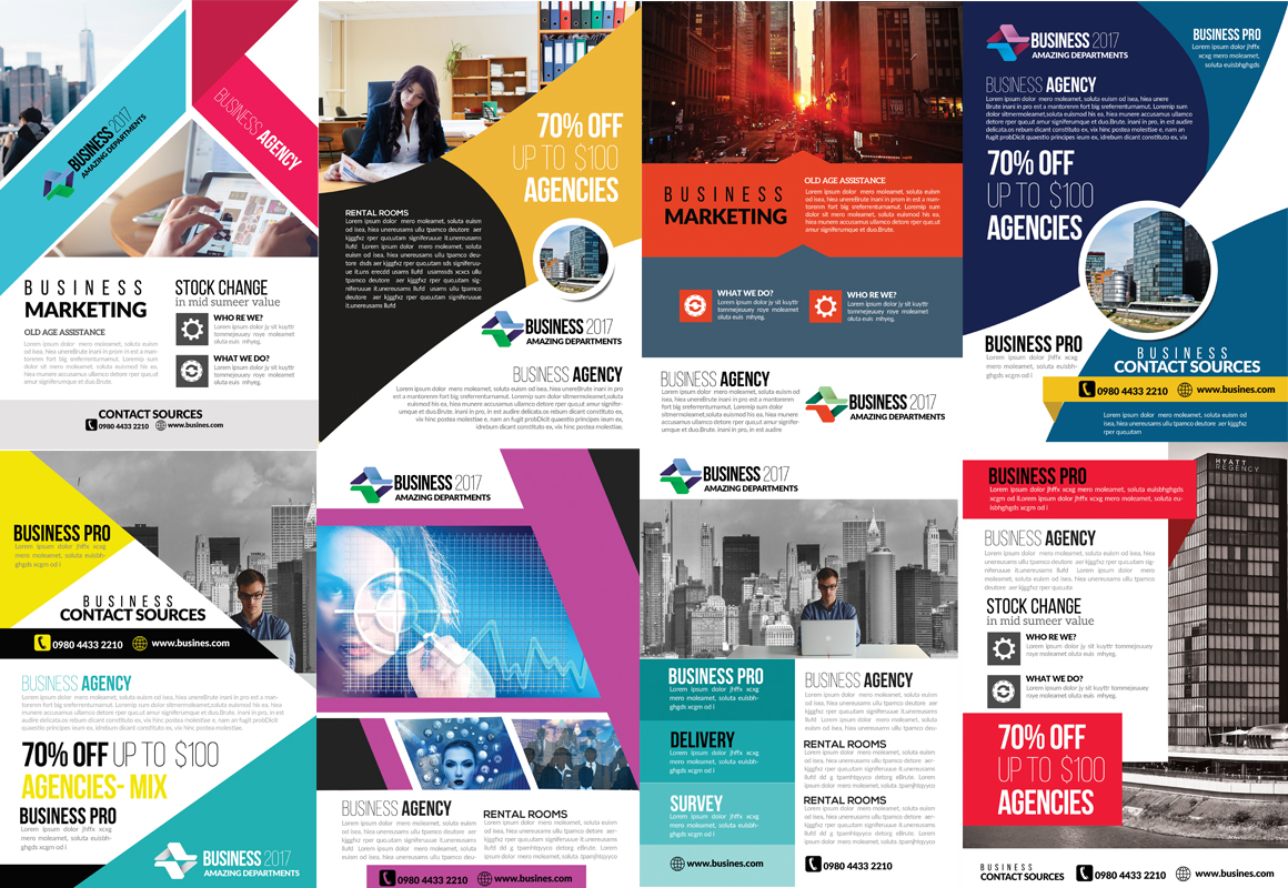 50 Business Flyers pack example image 5