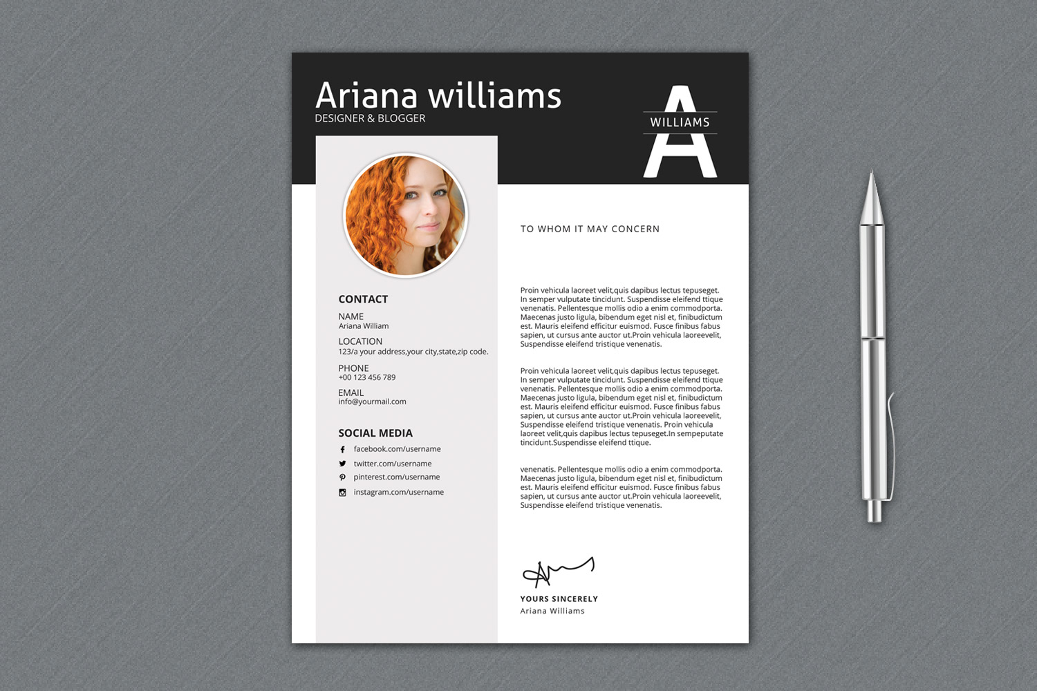 Resume Template | Cv Template, Professional Resume example image 2