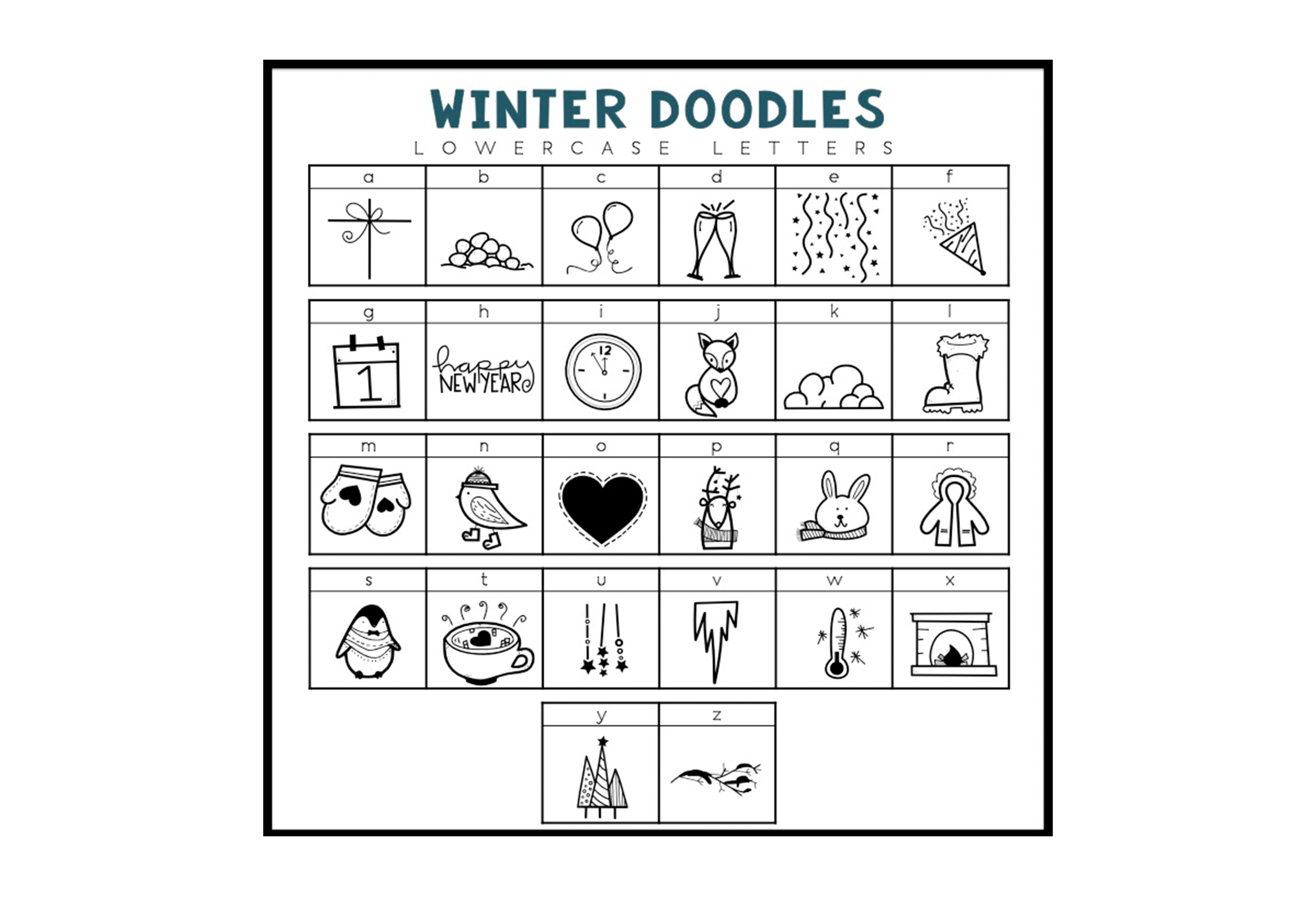 Winter Wishes - A Winter Doodles Font example image 2