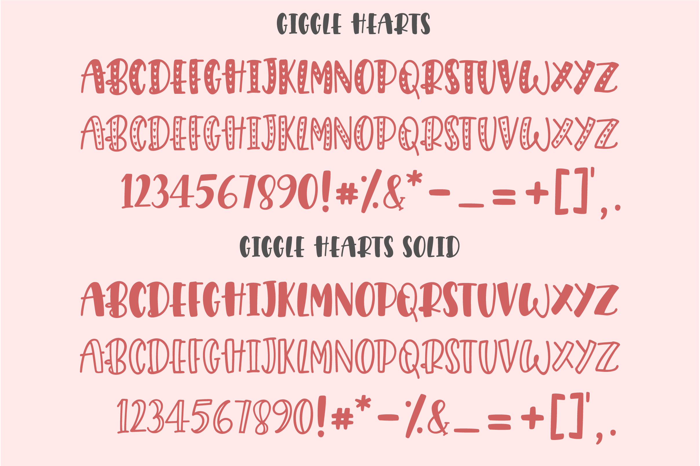 Giggle Hearts, An adorable valentine day font example image 5
