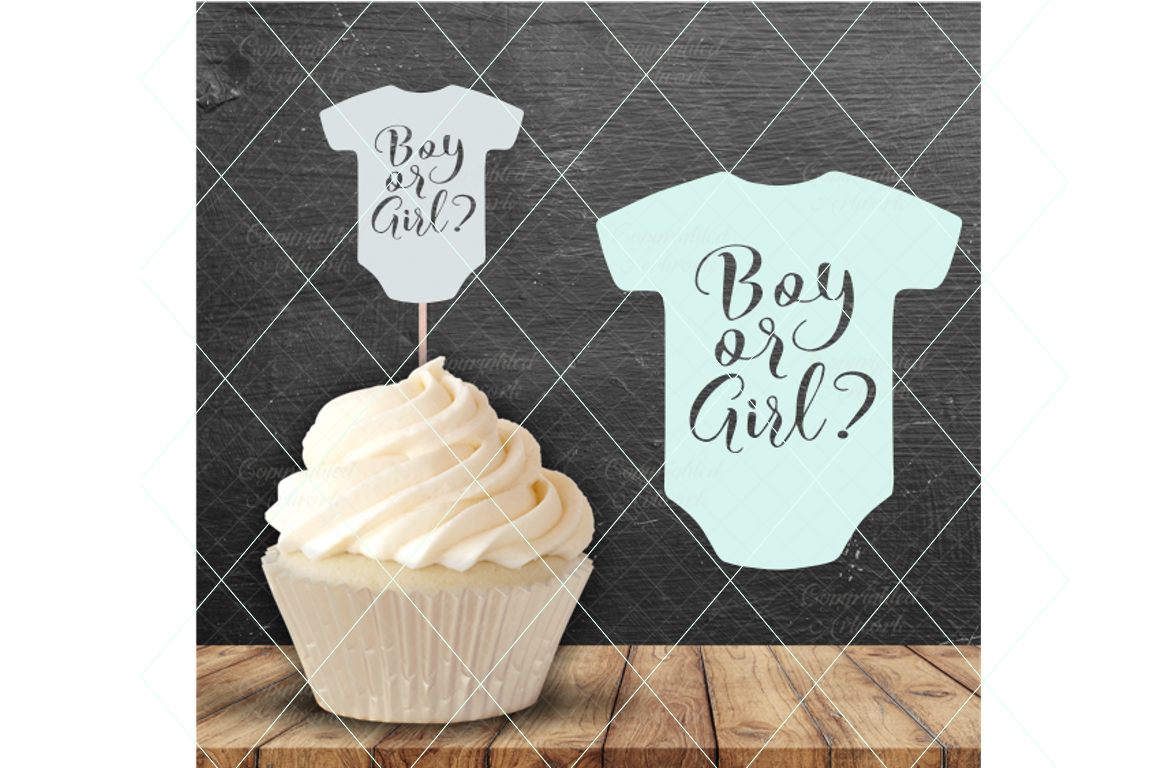 Boy or girl svg, gender reveal svg, pregnancy announcement example image 1