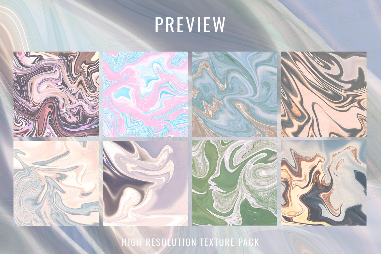 Pastel Marble Digital Paper, Scrapbooking, Textures example image 8