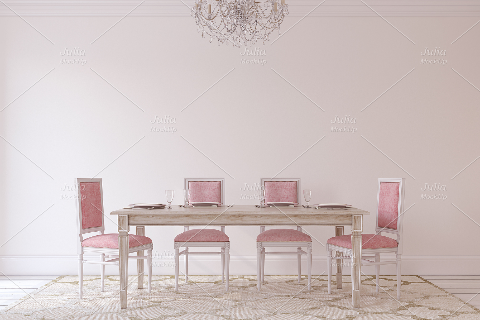 Pink Interiors. Frames&Canvases Mockup. example image 2