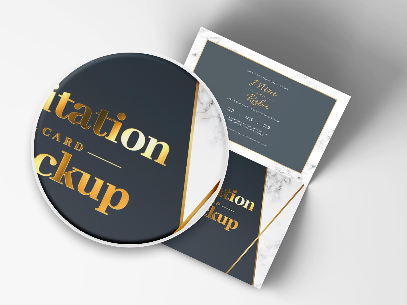 Invitation Card Mockups V1 example image 7