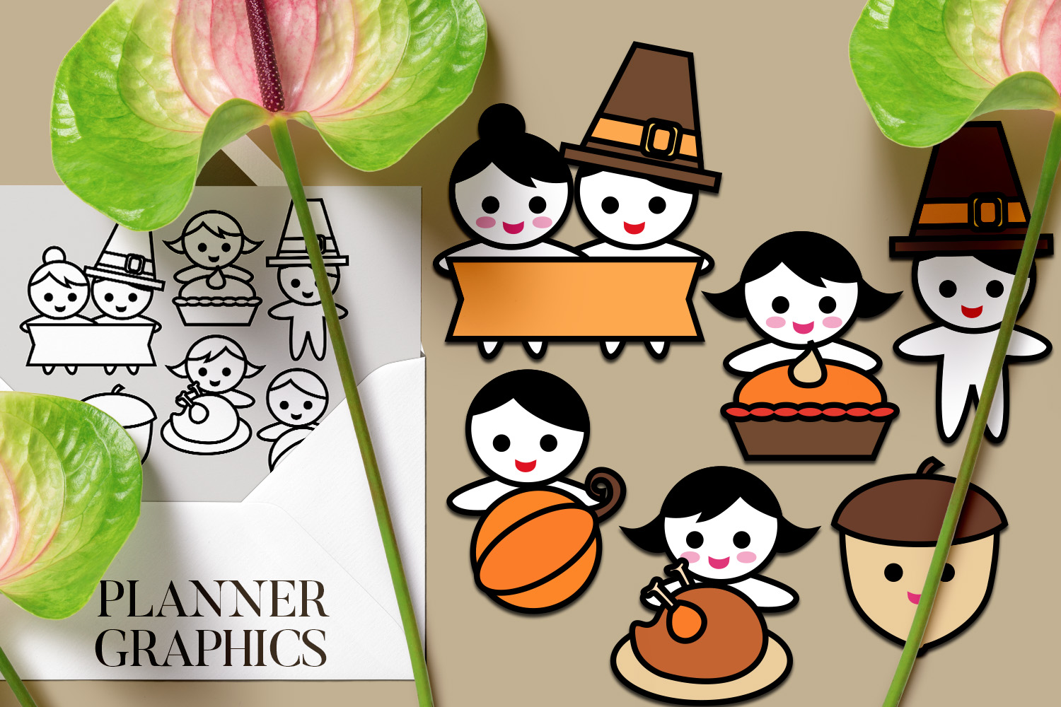 Holidays Bundle - Planner Graphic Illustrations example image 5