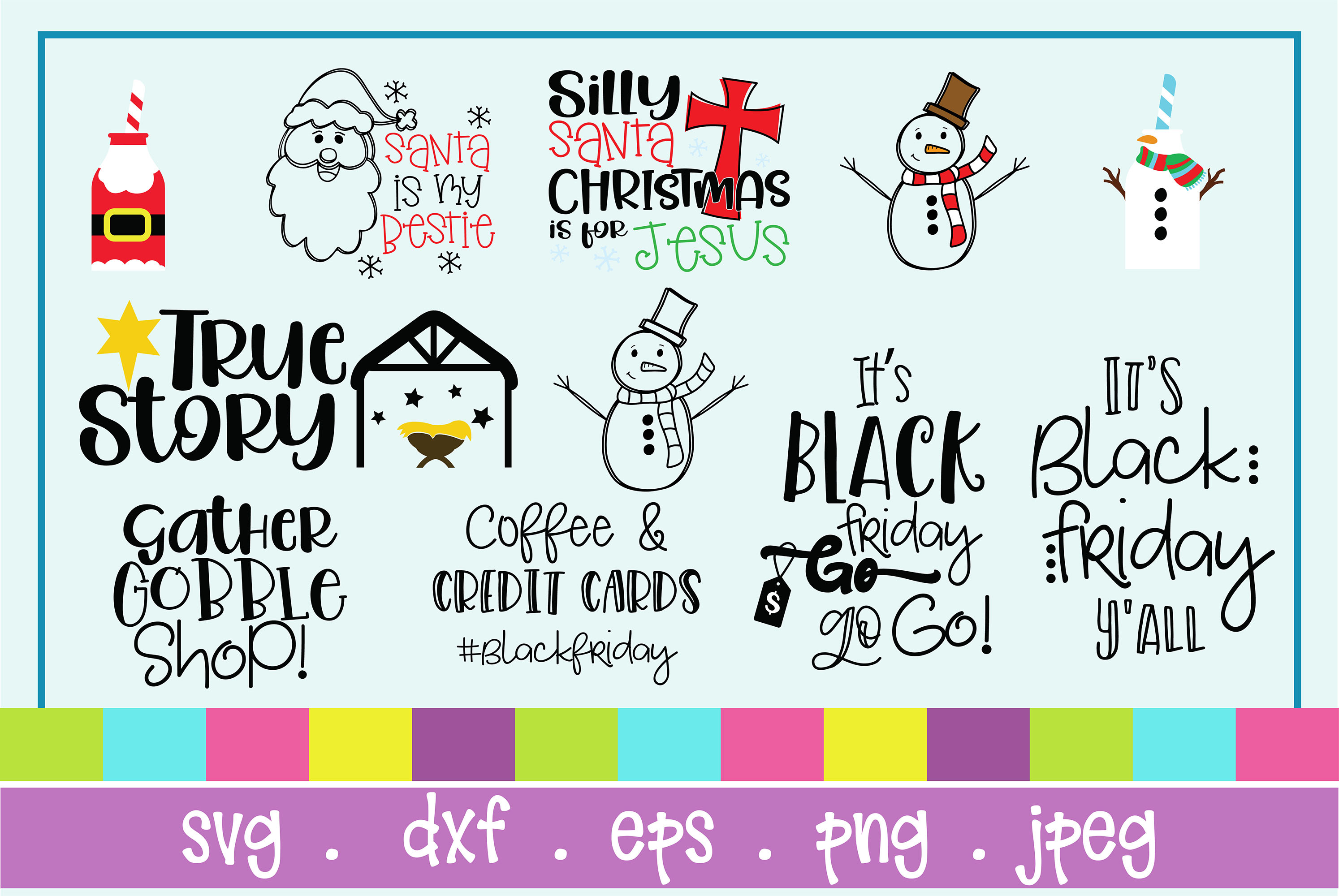 The Huge SVG Bundle Vol 2, 500 Cutting files, SVG, DXF,PNG example image 26