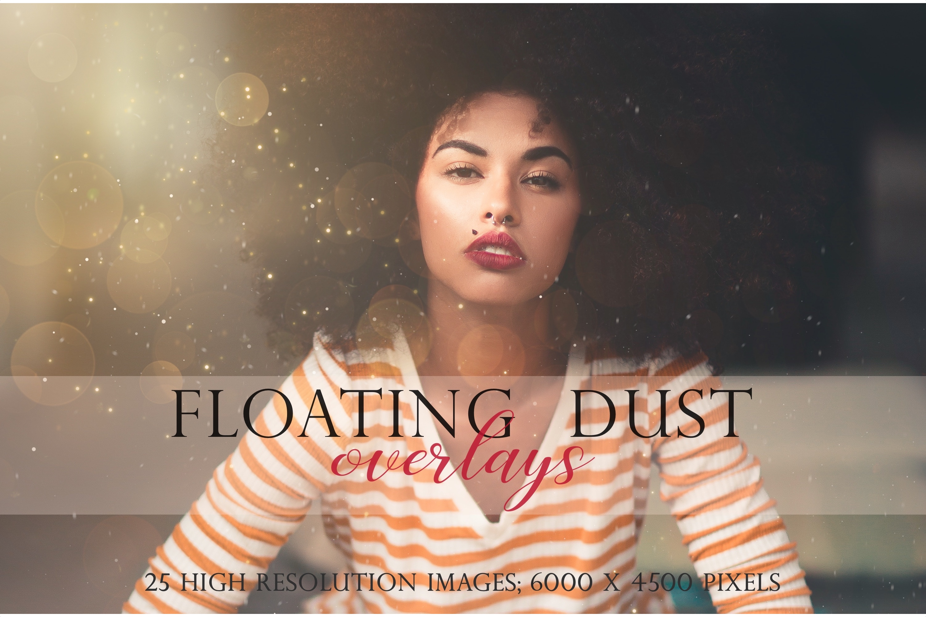 Floating dust photographic overlays example image 1
