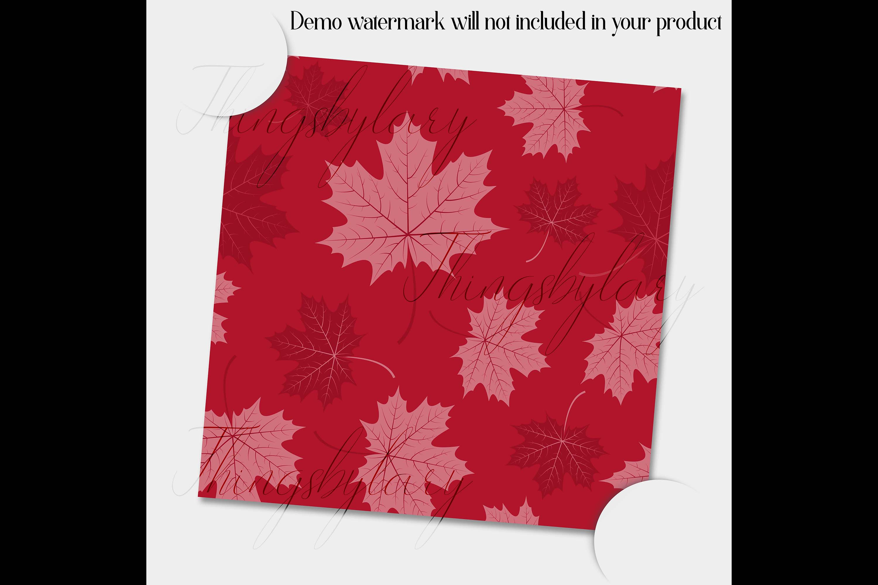 100 Seamless Tinted Autumn Leaves Pattern Digital Papers example image 3