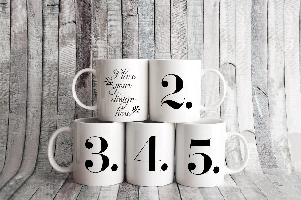 4x Bundle mug mockup PSD sublimation 11oz mugs mockups example image 6