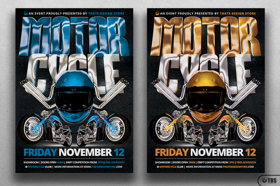 Motorcycle Flyer Template example image 2
