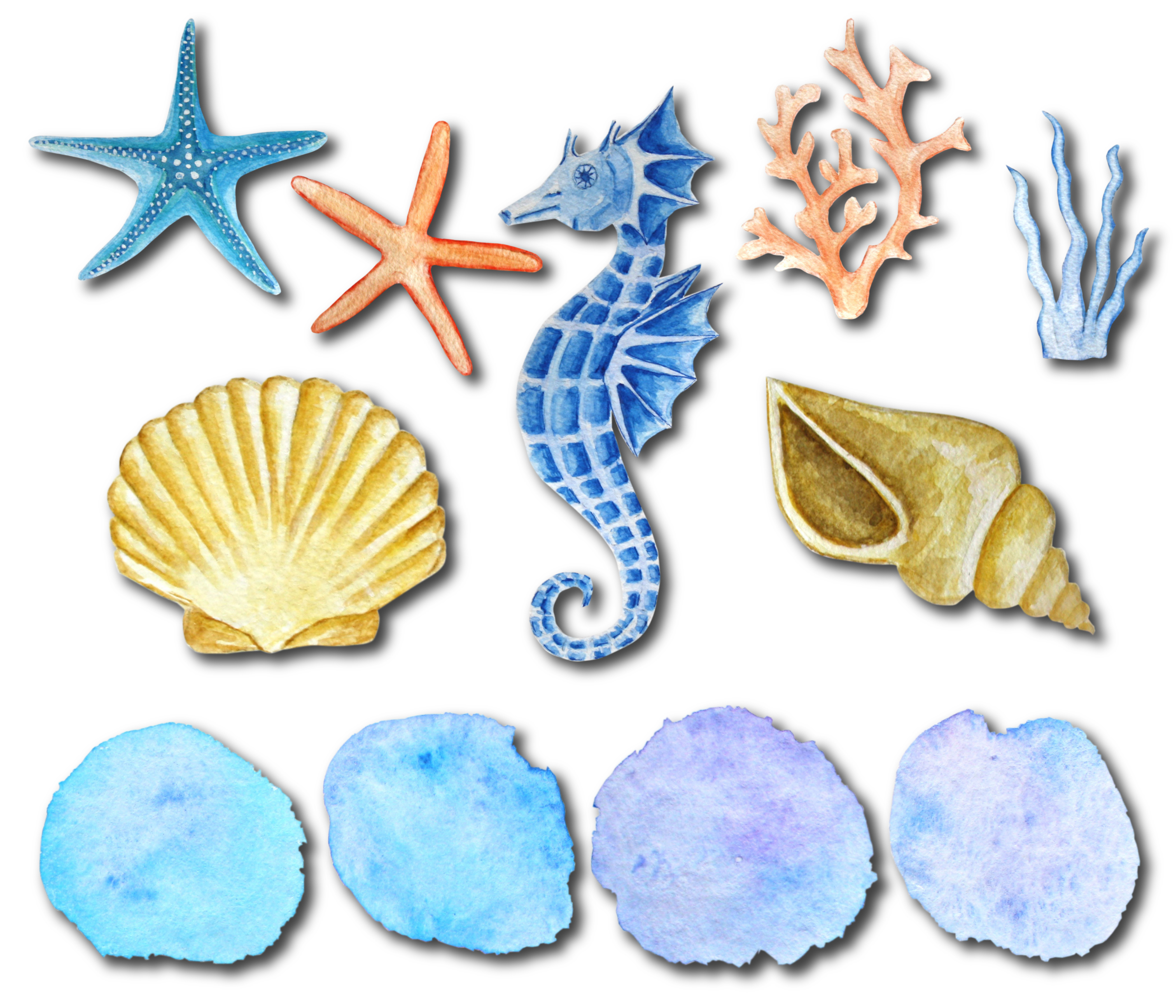 Under the Sea Watercolor Clipart example image 2