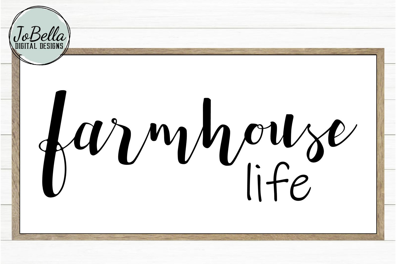 Farmhouse Life SVG, Sublimation & Printable Design example image 1