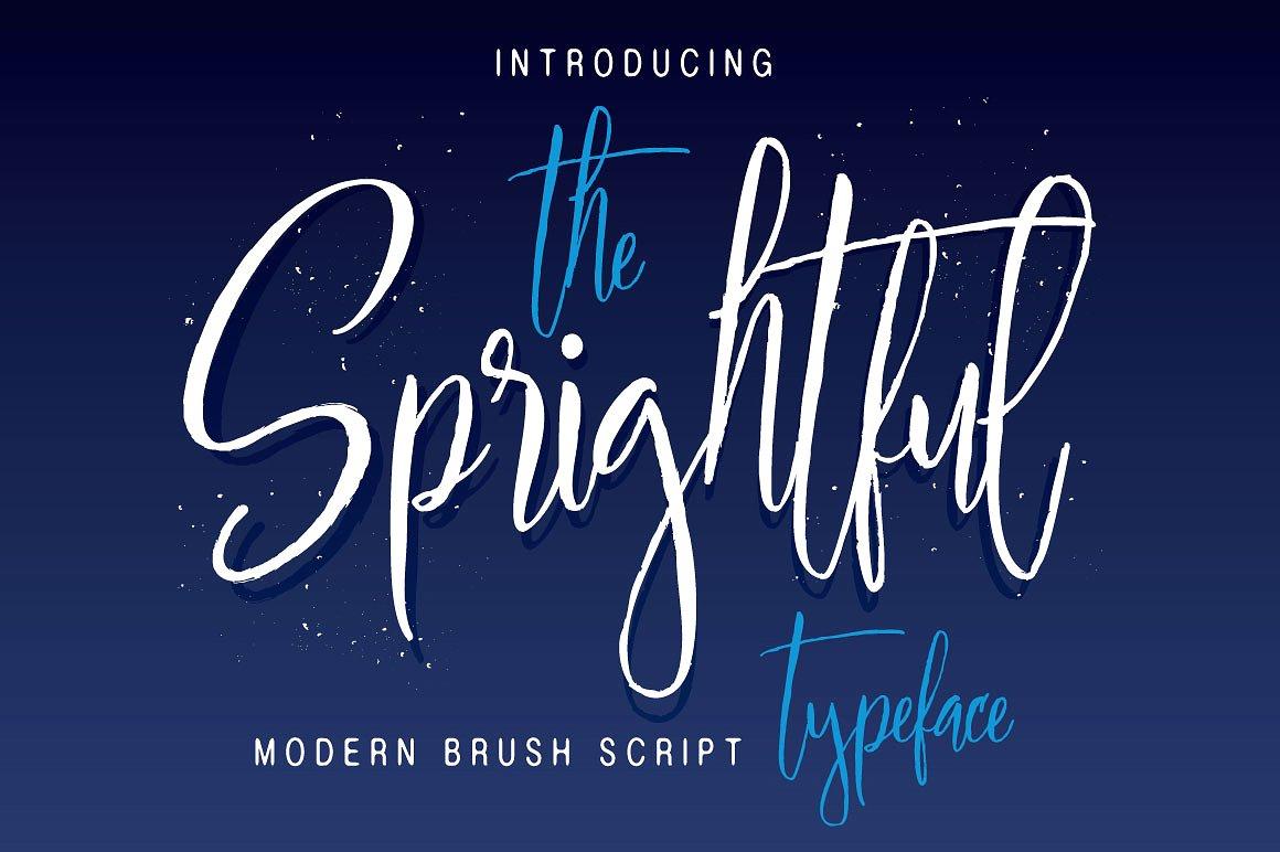 Sprightful Typeface example image 1